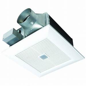 Panasonic quiet 80 or 110 cfm ceiling dual speed exhaust for Best quiet bathroom exhaust fan