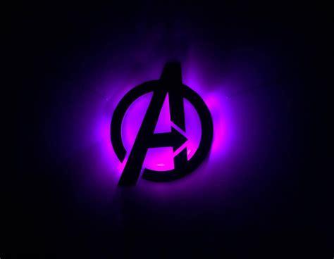 Avengers Illuminated Symbol Sign