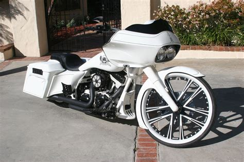 Custom Harley Bagger Painted By David Lozeau And Hot Dog