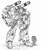 Robotech Coloring Pages Metal Heavy Spartan Mk Chuckwalton Mbr Destroid V1 Force Google Robot Deviantart Expeditionary Mecha Marines Wars Veritech sketch template