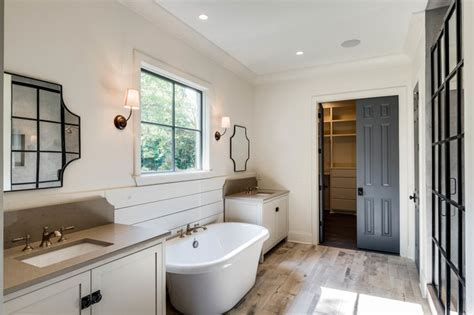 Country Master Bathroom in Benjamin Moore Muskoka Trail