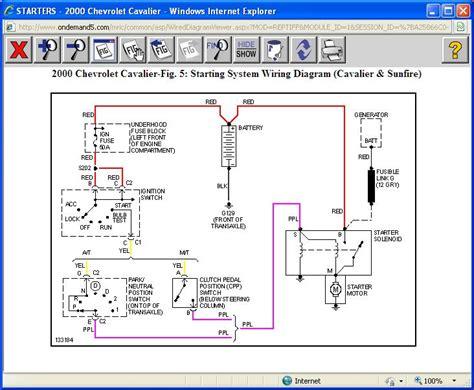 2001 Chevy Cavalier Starter Wiring Diagram by 2000 Cavalier Will Not Start 2000 Chev Cavalier 2 2l
