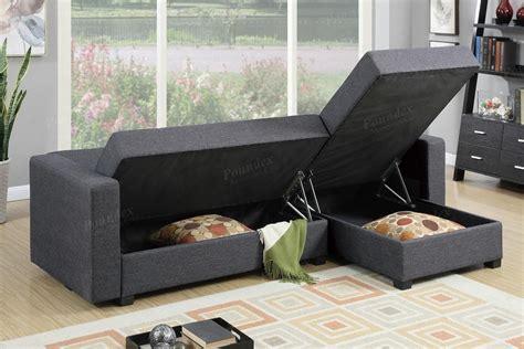 levon pc sectional  fold   storage futons