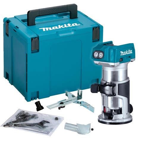 makita drtzj cordless router laminate trimmer body