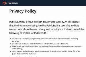 privacy policy template generator free 2017 With generic privacy policy template