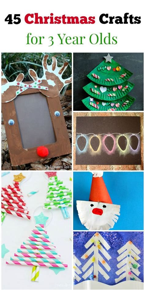 45 christmas crafts for 3 year olds unique craft and