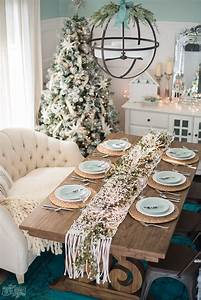 French, Country, Farmhouse, Christmas, Dining, Room, U0026, Table, Setting