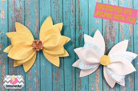 daisy hair bow template svg png dxf  jpeg eps  timetocraftshop thehungryjpegcom