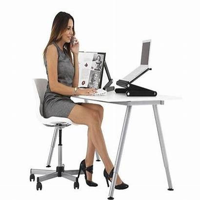Laptop Desk Fan Folding Stand Adjustable Tray