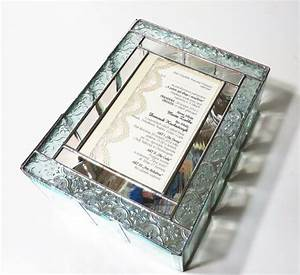 stained glass keepsake gift box wedding invitation wedding With glass box wedding invitations