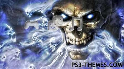 Ghost Themes Ps3 Themes 187 Ghost Skulls Dynamic Theme