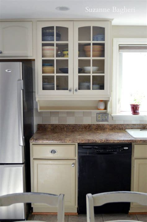 Millstone and Antique White Kitchen Cabinet Makeover