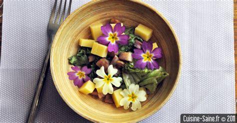 cuisine saine et bio recette bio rapide salade aux primevères et comté