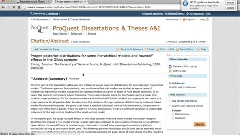 Find Dissertations And Theses Via The Proquest