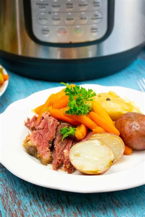 Place it in the instant pot on a steamer insert. Instant Pot Corned Beef and Cabbage - A Pressure Cooker