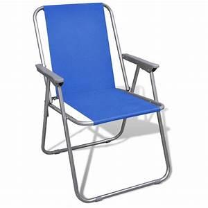 Chaise Camping Pliante : la boutique en ligne lot de 2 chaises pliantes bleues ~ Melissatoandfro.com Idées de Décoration