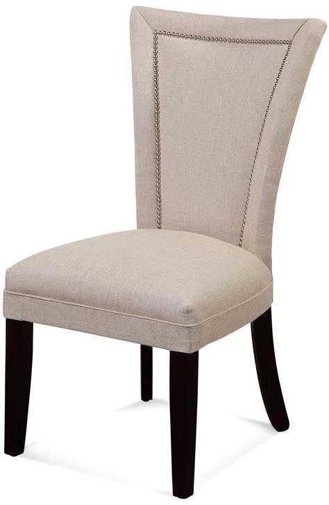 flair linen nailhead parson chair dpch11 739ec