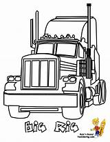 Coloring Truck Pages Wheeler Boys Trucks Colouring Diesel Peterbilt Yescoloring Rig Easy Mack sketch template