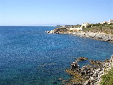 Janine C Weed View From Pool Along Coast Towards Skala Picture Of