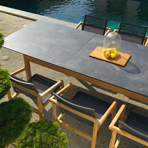 les jardins tekura rectangular extending dining table