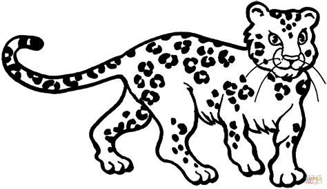 Dibujo De Dibujo De Un Cachorro De Leopardo Para Colorear