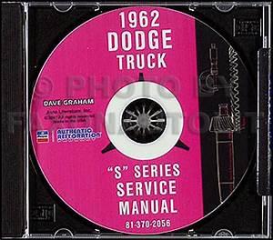 1962 Dodge Truck Repair Shop Manual Original