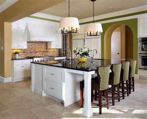 extend kitchen island a playful palette contemporary kitchen dc metro by 3634