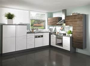 Einbauküchen In L Form : wellmann l k che front hochglanz wei kombiniert mit hochglanz steinbirke ~ Bigdaddyawards.com Haus und Dekorationen