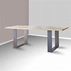 Pied De Table Basse Metal Industriel : good table de sjour esprit industriel extensible en chne ~ Teatrodelosmanantiales.com Idées de Décoration