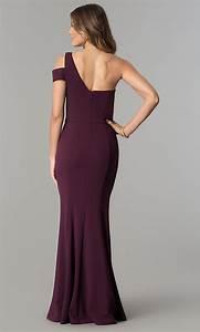 One-Shoulder Eggplant Purple Formal Dress