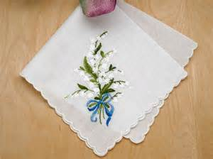 personalized wedding napkins swiss of the valley something blue bridal handkerchief