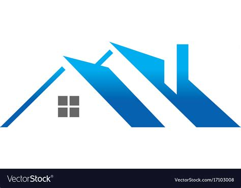 house roof construction logo royalty  vector image