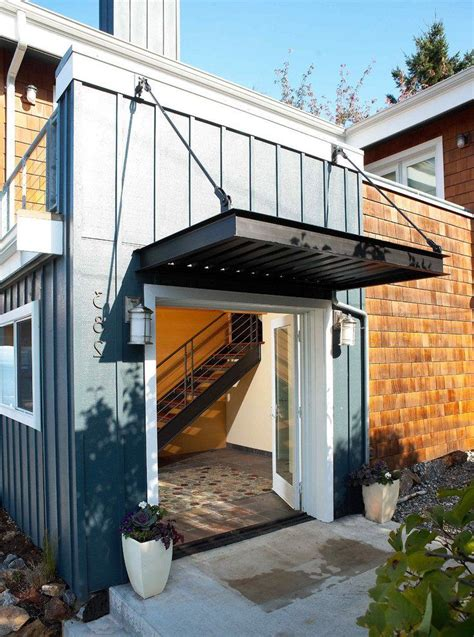 tension rod ideas exterior industrial  overhang contemporary mailboxes porch canopy