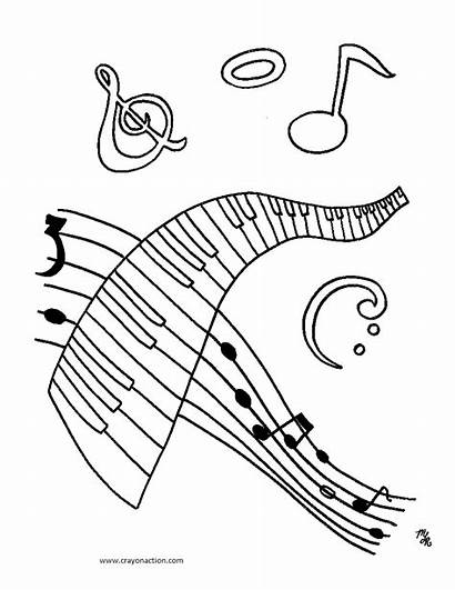 Coloring Pages Musical Printable Symbols Notes Cool