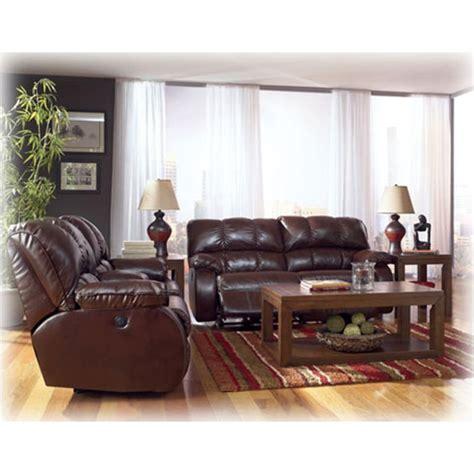 ashley furniture knockout durablend redwood loveseat
