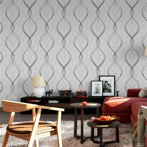 papel de parede ondulado cinza modelo exclusivo bemcolar