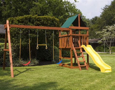wooden playset  swingset plans