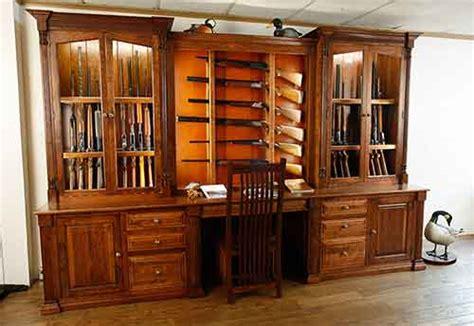 built in gun cabinet amish custom gun cabinet idea gallery amish custom gun