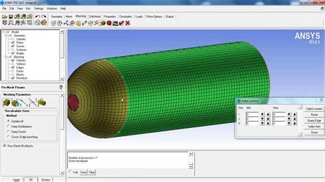icem cfd tutorial meshing  hemisphere cylinder youtube