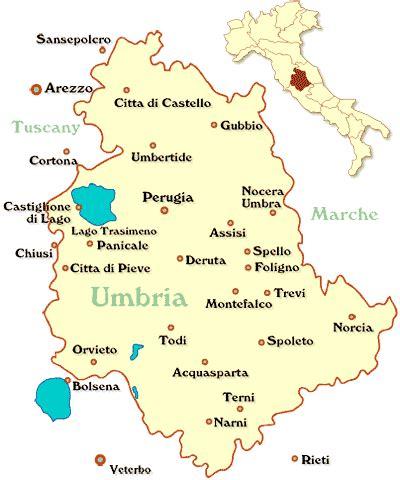 Umbrien Italien Karte