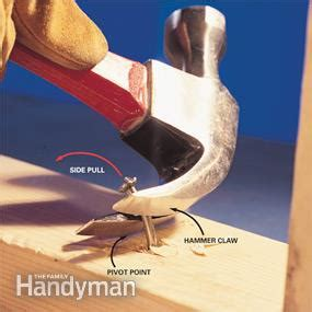 remove stuck nails hammer tips  family handyman