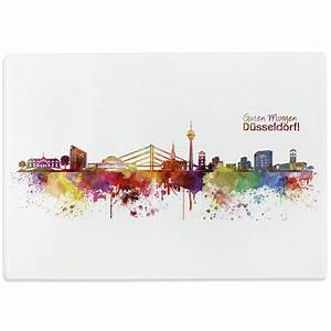 Leinwand Köln Skyline : glasschneidebrett aquarell skyline d sseldorf ~ Sanjose-hotels-ca.com Haus und Dekorationen