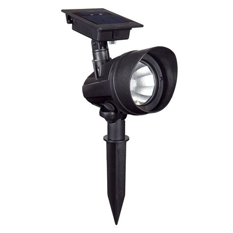 duracell solar powered black outdoor led spot light 6
