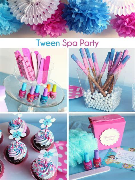 tween spa party ideas decor activities  sweets