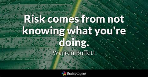 risk    knowing  youre  warren