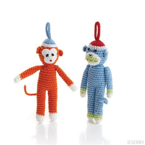 christmas ornaments monkey friends ornaments