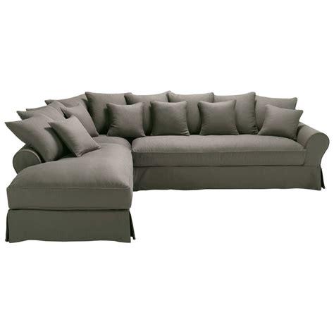 canape d angle 6 places canapé d 39 angle gauche 6 places en taupe grisé bastide