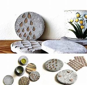 Zement Zum Basteln : basteln mit beton bierdeckel zement pinterest ~ Lizthompson.info Haus und Dekorationen