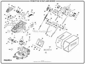 Homelite P1102 18 Volt Lawn Mower Mfg  No  107179001 Parts