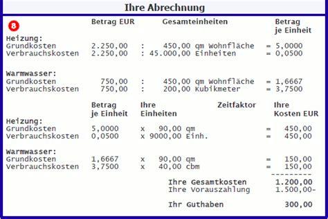 Nebenkostenabrechnung Warmwasser Berechnung by Abrechnung Mietwohnung Wie Gehe Ich Als Vermieter Eine